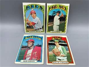 1972 Topps Baseball Lot of 4 Stars - Johnny Bench,