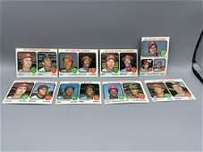 1973 Topps Baseball League Leaders Lot of 8  Nolan