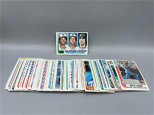 1982 Topps Baseball Lot of 75 Different cards with Cal
