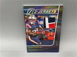 2020 Panini Zenith Sony Michel Game Worn Jersey Patch