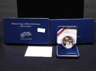 2005 U.S. Marine Corp 230th Anniv. Proof Silver Dollar