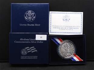 2009 U.S. Abraham Lincoln Commem Uncirculated Silver