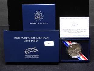 2005 U.S. Marine Corp 230th Anniv. Uncirculated  Silver