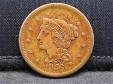 1856 Braided Hair Large Cent - VF Condition!