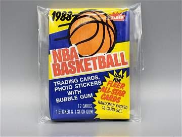 1988/89 Fleer Basketball Unopened Wax Pack - Hot