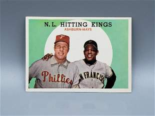 1959 Topps Hitting Kings #317 Willie Mays/Richie