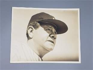 Vintage Photograph Babe Ruth