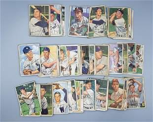 (103) 1952 Bowman Baseball Cards Various Grades No