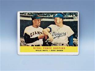 1959 Topps Rival Fence Busters #436 Willie Mays/Duke