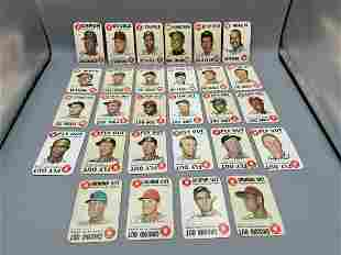 1968 Topps Game Lot of 28 - Mays, Rose, Robinson,