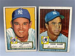 1952 Topps Allie Reynolds #67 & Hank Bauer #215
