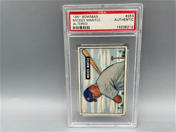 1951 Bowman Mickey Mantle Rookie #253 PSA Authentic -