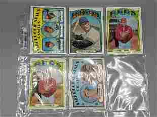 (191) Baseball Cards 1970-72 Various Grades Many Stars
