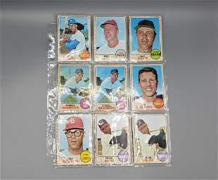 (203) 1968 and 1969 Topps Baseball Cards Varying Grades