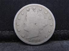 1886 Liberty V-Nickel. **RARE KEY DATE** Good