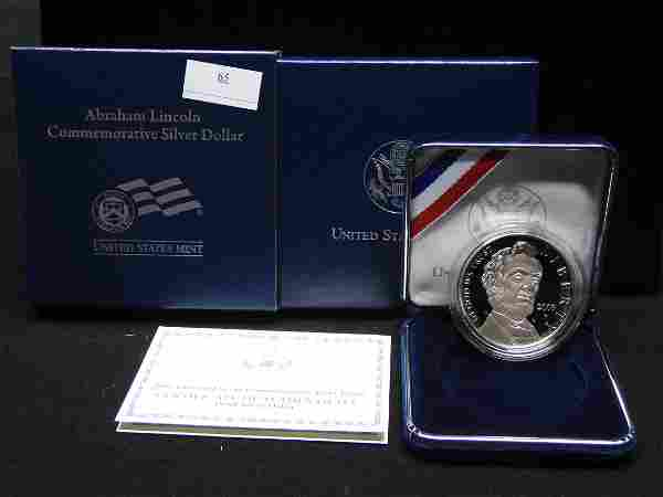 2009 U.S. Abraham Lincoln Proof Silver Dollar OGP