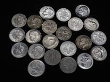 (22) Silver Roosevelt Dimes All Dated 1949-51