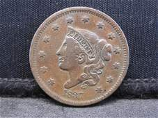 1837 Braided Hair Large Cent.