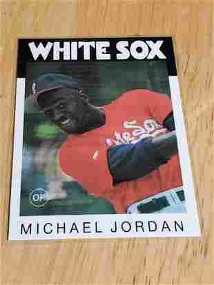 1991 Michael Jordan White Sox Promo Card