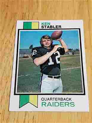 1973 Topps Football Ken Stabler Rookie Card #487