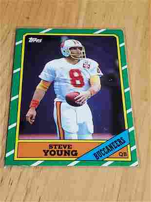 1986 Topps Football Steve Young Rookie Card #374