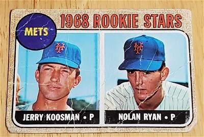 1968 Topps Baseball #177 Nolan Ryan Rookie - Low Grade