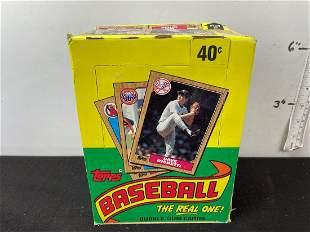 1987 Topps Baseball Unopened Box - 36 Packs - Barry
