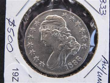 """1833 CAPPED BUST HALF DOLLAR�""""VERY SHARP DETAILS"""""""