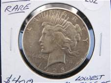 """1928 PEACE DOLLAR..""""LOWEST MINTAGE OF PEACE""""�.""""VERY"""