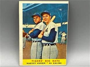 1958 Topps Al Kaline/Harvey Kuenn - Tigers' Big Bats