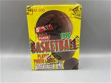 1990 Fleer Basketball Wax Box BBCE Wrapped - Hot