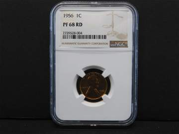 1956 NGC PF68 RD Lincoln Wheat Cent