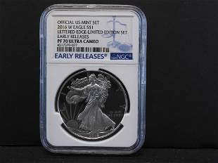 2016-W NGC PF70 Ultra Cameo - Early Releases - Lettered