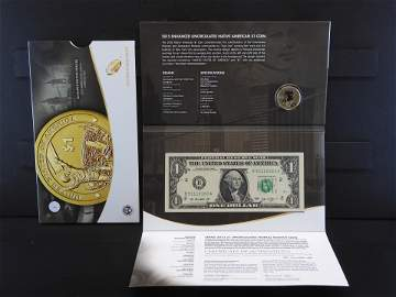 2015 Mohawk Iron workers American $1 coin and currency