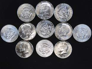 (11) 1970 D Kennedy Half Dollar Key Date - All