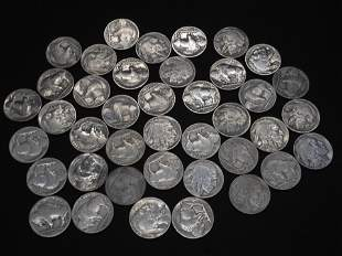 40 -  Full Date Buffalo Nickels.