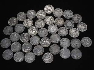 40 Full Date Buffalo Nickels.