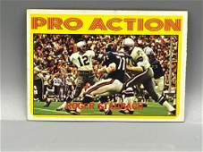 1972 Topps Roger Staubach Pro Action #122 Rookie Year