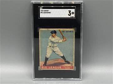 1933 Goudey Lou Gehrig #92 SGC 3