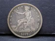 1877-S Trade Dollar.  Fine/VF