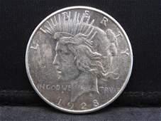 1928-S Silver Peace Dollar Semi Key Date Bright White