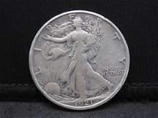 KEY DATE 1921-S Walking Liberty Half Dollar VF