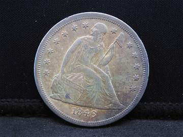 1846-O Seated Liberty Dollar RARE IN AU Grade!!