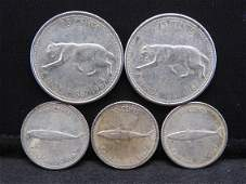 80 Cents Face Value Canadian Silver Coins