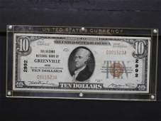 National Bank Note of Greenville, OH - 10$