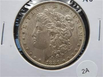 1881 Morgan $1.  AU.