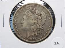 """1880-O Micro-""""O"""" Morgan $1."""