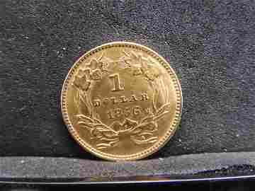 1856 Type 3 $1.00 Gold Piece Civil War Date with