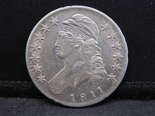1811 Capped Bust Silver Half Dollar - Huge Luster on