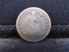 1854 Seated Liberty Silver Half Dime w/ Arrows